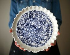 Large ceramic plate Cheese ceramic plate by ArtetManufacture