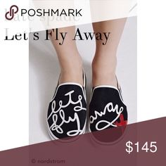 """Kate Spade stefy """"let's fly away"""" suede sneaker Super cute kate spade slip-on sneakers. Brand new with box.  kate spade Shoes Sneakers"""
