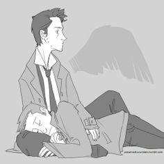 Angel pillow #destiel #Supernatural