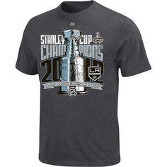 Reebok Los Angeles Kings 2012 NHL Stanley Cup Final Champions Locker Room  Big Sizes T-Shirt - Charcoal de5d864fd