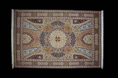 The famous Gonbad or Dome pattern is inspired by the intricately decorated circular ceiling of a mosque. The patterning is representative of the complicated tile work that goes into the construction of these prayer houses. The dome of the mosque is the peak and where the pattern tends to start. The center of a Gonbad rug is similar to the center of the dome. Get ready to see this masterpiece along with others in our soon to open online store. #dome #design #persian #rug #tabriz #iran #fine…