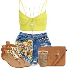 A fashion look from July 2013 featuring Bardot, GUESS sandals and Oasis handbags. Browse and shop related looks.