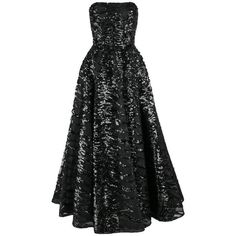 Preowned Haute Couture 1950s Black Sequin Ball Gown Evening Theater... ($6,294) ❤ liked on Polyvore featuring dresses, gowns, vintage, black, sequin evening dresses, sequin embellished dress, holiday dresses, evening dresses and faux-leather dress