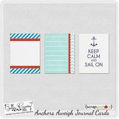 ACQUIRED  #freeprintable   Free Anchors Aweigh Journal Cards from Bella Gypsy