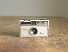 Vintage Kodak Camera.  I just found one at a thrift store today for $1.99!  It even has the wrist strap.  Love.