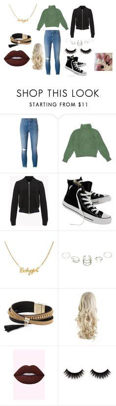 """Louise's winter look #1"" by steffie-welvaert on Polyvore featuring mode, J Brand, Yves Saint Laurent, Converse en Simons"