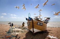 Living the View - Commended & Judge's choice: Fisherman at work, Hastings, East Sussex, England by Corin Brown, London