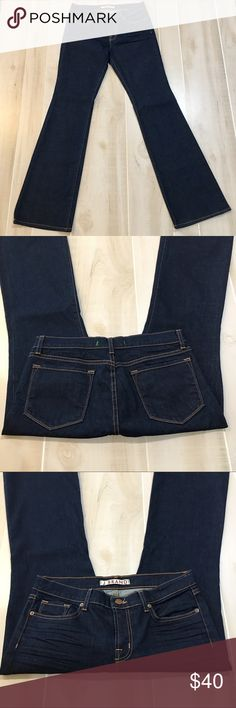 """Like New J Brand The Boot Leg Jeans 30x34 Washed once.  Never worn!  J Brand The Boot Leg.  Style 18C012. Color is Ink.  Size 30.  Inseam is 34"""".  Rise is approx 9"""".  Waist is approx 15.5"""" laying flat.  98% Cotton and 2% Spandex. J Brand Jeans Boot Cut"""