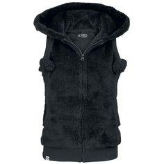 """R.E.D. by EMP Vest, Women """"Teddy Vest"""" black • EMP"""