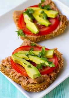 Speedy Taco Toast  - very simple and yet good. I added some taco seasoning to the refried beans too.