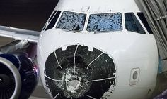 Pilots of a Delta Airlines flight 1889 had to make an emergency landing - without being able to see out of the windshield - after baseball-sized hailstones wrecked the front of the plane. The hail. Delta Plane, Delta Flight, Aviation News, Civil Aviation, Airline Pilot, Hail Storm, Airline Flights, Car Shop, Interesting News