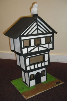 model of tudor house - House interior Great Fire Of London, The Great Fire, School Projects, Home Projects, School Ideas, Chi's Sweet Home, Diy And Crafts, Arts And Crafts, Rose House