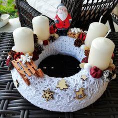 Mikulásos adventi koszorú 5 Minute Crafts, Diy Room Decor, Easy Crafts, Life Hacks, Birthday Cake, Woodworking, Simple, Christmas, Ideas