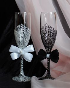 Wedding Toast Glasses Wedding Champagne Flutes by WeddingbyAnn, $52.00
