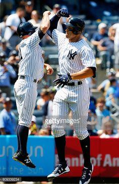 News Photo : Aaron Judge of the New York Yankees celebrates...