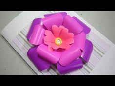 Como hacer una flor de scrapbooking para cartas y regalos
