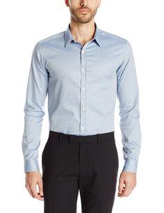Theory Men's Zack Ps Altona Button-Down Shirt, Foam, X-Large