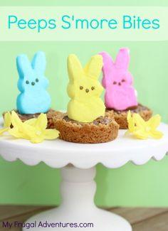 Fun Easter Recipe: Peeps Treats S'more Bites #PeepsTreats - My Frugal Adventures