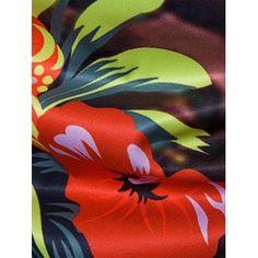 926e7d30277 Floral Tie Dye Print Cover Placket Hawaiian Shirt -