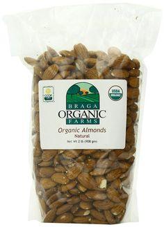 Braga Organic Farms Almonds, Natural, 2 Pound * Tried it! Love it! Click the image. : Amazon fresh