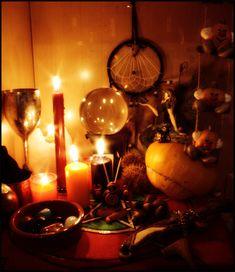 Samhain Altar 2008 by ReanDeanna.deviantart.com