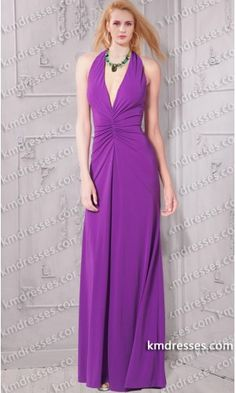 fabulous Deep V- neck center ruching open back halter dress.prom dresses,formal dresses,ball gown,homecoming dresses,party dress,evening dresses,sequin dresses,cocktail dresses,graduation dresses,formal gowns,prom gown,evening gown.