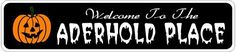 ARBOR PLACE Lastname Halloween Sign - Welcome to Scary Decor, Autumn, Aluminum -. Scary Decorations, Halloween Decorations, Hallowen Ideas, Halloween Signs, Tear, Round Corner, New Sign, Shop Signs, Seasonal Decor