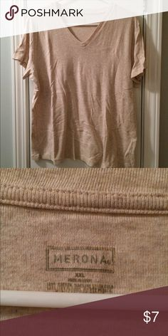 Versatile V-neck T-shirt Soft and comfy v-neck t-shirt. Gently used. No stains or holes. Smoke free home. Merona Tops Tees - Short Sleeve