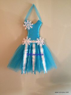 Frozen Inspired Tutu Dress Bow Holder/Wall Decoration by Tutunyou, $25.00