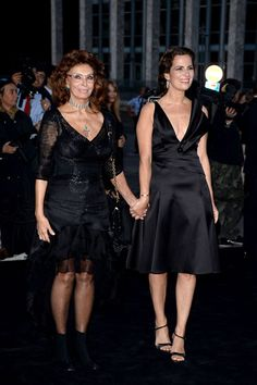 Armani's One Night Only Roma - Sophia Loren and Roberta Armani
