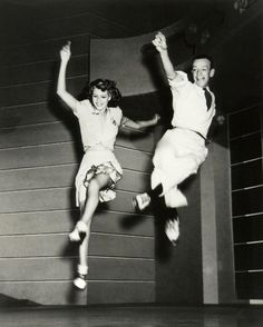 "Rita Hayworth and Fred Astaire rehearsing on the set of ""You Were Never Lovelier"" (1942)"