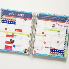 Oops! Forgot to share my July monthly spread in my @erincondren. Shops are tagged! #mychicplanner