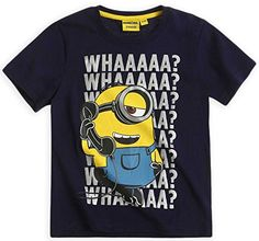 Boys Short Sleeved Official Minions 100 Cotton TShirt Navy 10 Years * For more information, visit image link.