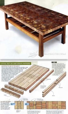 Making End Grain Table Top - Woodworking Tips and Techniques | WoodArchivist.com