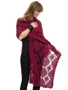 Spider Stitch Wrap: free #crochet pattern