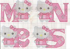 ♥ Korsstygns-Arkivet ♥: HELLO KITTY MÖNSTER-KORSSTYGN