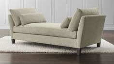 LOVE THIS IN PLATINUM, SNOW AND IN CAPRI!! Marlowe Daybed | Crate and Barrel