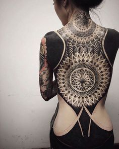 #black #back #tattoo #asiastyle