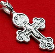 holy crucifix prayer cross | Holy Trinity Icon Orthodox Crucifix Cross Sterling Silver 925 Prayer ...
