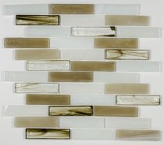 Stained Glass Mosaic Tile Pastel 1x4 | Mineral Tiles