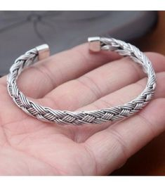 Fine Jewelry Solid Silver Baby Bangle Adjustable Identity Bracelet Reliable Performance