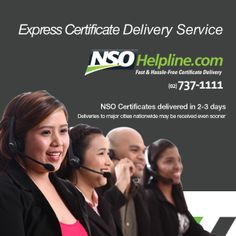 It's the start of the year, make sure all your personal records are updated and filed properly.  Check expiring passports and other records that you might need to update. Make sure you have proper documents ready at hand.  Do you have a copy of your NSO birth certificate ready?  Get one now online at www.NSOHelpline.com You can also call the NSO Helpline (02) 737-1111