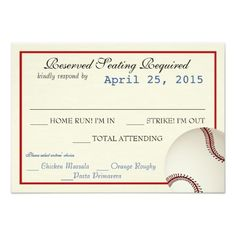 1000+ images about Sports Wedding Invitations on Pinterest ...