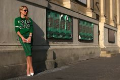 skirt, sweater & clutch - Forever 21 / pumps - Buffalo / earrings - Vintage / necklace - Bussy Bussy / ring - Thomas Sabo / bracelets - Thomas Sabo, Swarovski / watch - Swarovski / sunglasses - no name