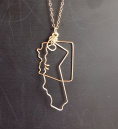 State of nebraska geometric necklace atl n 168 pendants sale two state necklace in sterling or 14k gold filled by thefolk aloadofball Gallery