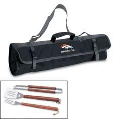 Picnic Time Denver Broncos 4-pc. Barbecue Tote Set