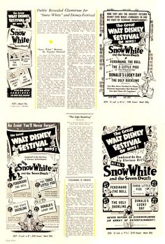 Filmic Light - Snow White Archive: ~history behind the film