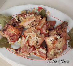 Friptura de iepure la cuptor cu vin - Lecturi si Arome Romanian Food, Lamb Recipes, Allrecipes, Poultry, Food To Make, Pork, Food And Drink, Yummy Food, Favorite Recipes