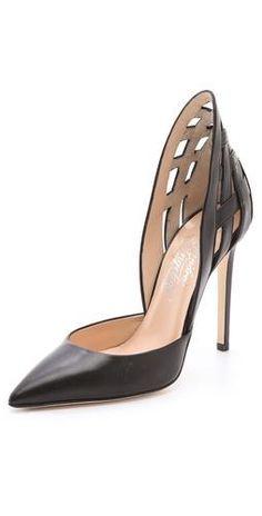 Black heels with a twist