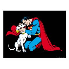 Shop Superman and Krypto Postcard created by superman. Personalize it with photos & text or purchase as is! Superhero Pop Art, Superhero Design, Superman Logo, Superman Stuff, Batman, Be My Hero, Superhero Birthday Party, Birthday Ideas, Birthday Cards